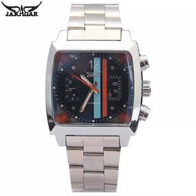 Relógio Masculino Jaguar Luxo Quadrado Aço Inox Automatico