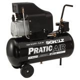 Compressor De Ar 8,2 Pés 2 Hp 25 Litros Pratic Air Schulz