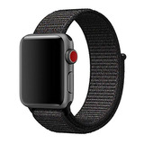 Correa Apple Watch Nylon 42mm Negra, Envío A Todo Chile