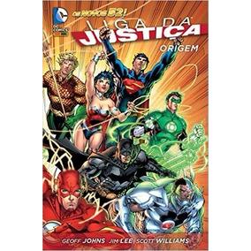 Liga Da Justiça Origem Capa Dura Geoff Johns Livro