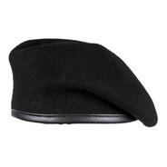 Boina De Lana Negro Sin Costura Para Militar O Policía