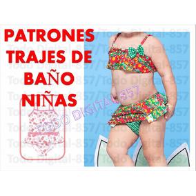 Patrones Imprimibles Traje De Baño Niña-bebes+obsequios!