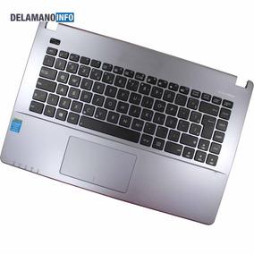 Carcaça Base + Teclado Notebook Asus X451c Cinza (10933)