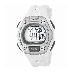 Timex Mens Tw5k Ironman Classic Mid Size 30 Lap Blanco Resi