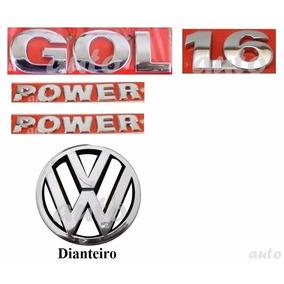 Emblemas Gol 1.6 + Laterais Power + Vw Grade - G4 Geração 4