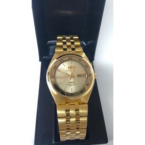 Relógio Orient Automático Masculino Dourado