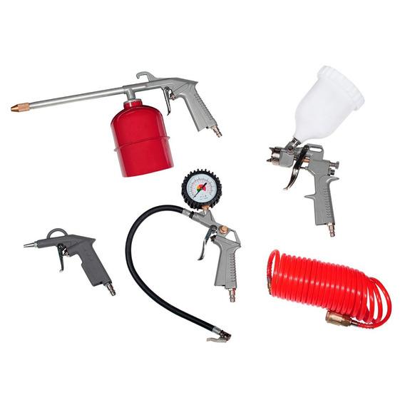 Kit Compresor Soplete Pistola Tanque Manguera Sin Interes