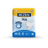 Fralda Bigfral Regular Plus Tamanho M - 8 Unidades