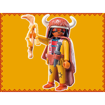 Retromex Playmobil 9146 Figura Jefe Indio #6 Serie 11 Oeste