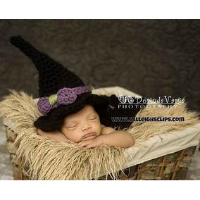 Disfraz Halloween Tejido A Mano Para Bebes, Bruja, Calabaza