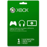 Membresia 1 Mes Xbox Live Gold Entrega Inmediata