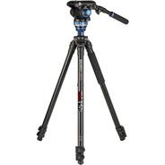 Tripé Benro Video A2573fs6 Pro 6kg 1,78m Cabeça Hidráulica