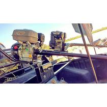 Pata Puyer Con Motor 15hp Arranque Eléctr- Hélice De Bronce