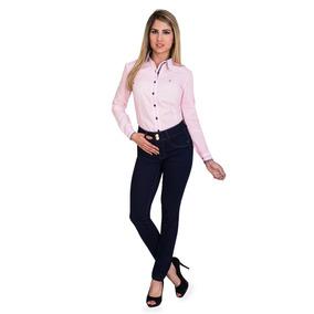 Calça Jeans Feminina Cintura Alta Hot Pants Levanta Bumbum