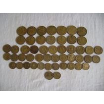50 Moedas Antigas Diferentes Coleção De 1942 A 1956