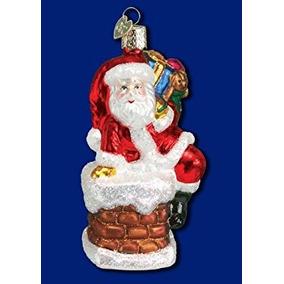 Decoración Viejo Mundo De Santa Navidad En La Chimenea De C