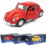Volkswagen Escarabajo Metal 1:32 Musical Enciende Luces