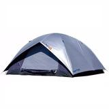 Barraca Camping Luna 5 Pessoas Proteção Vazamento Sobreteto