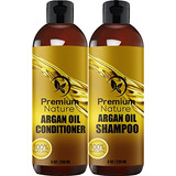 Argan Aceite Shampoo Y Acondicionador Set - (2x 8oz) Sulfat