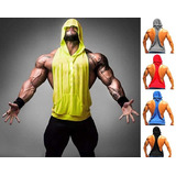 Kit 5 Camisa Regata Cavada Masculina Blusa Com Capuz - Toca