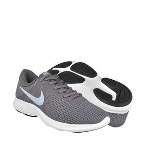 Tenis Nike Para Mujer Textil Gris Con Blanco 90899904