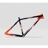 Quadro Bicicleta 26 Aluminio Venzo Viper Tam18 Pto/laranja