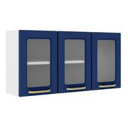 Alacena 3 Puertas Con Vidrio Bertolini Colors