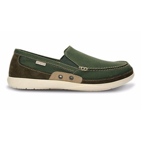 Mocasines Crocs Walu Accent Men Army Green Sku C14392as
