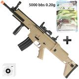 Rifle Airsoft Spring Cybergun Fn Scar-l Tan + 5000 Bbs 0.20g