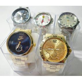 Kit C/ 05 Relógios Masculinos Atacado Revenda