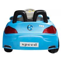 Carro Eletrico Infantil Buzina Sons Luzes Criança Azul