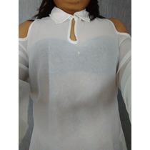 Blusa Blanca Camisa Manga Elegante Marca Salsa Promoción