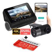 Camera Veicular Automotiva Xiaomi 70mai A800 4k Dual + 128gb