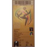 Entrada Mundial Sudafrica 2010 - Argentina - Nigeria