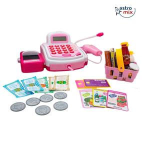 Caixa Máquina Registradora Infantil Brinquedo Com Luz Som