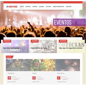 Portal Eventos Demo 1 + 1 Ano De Hospedagem