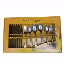 Juego 24 Cubiertos Acero Inoxidable Table Style Envio Gratis