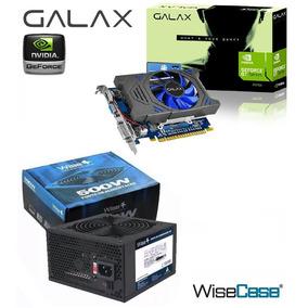 Placa De Video Gt730 2gb Ddr5 384 Cores + Fonte 500w Real