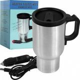 Caneca Térmica Inox Elétrica 12v Aquece Agua Café Leite Carr