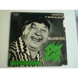 Jose Marrone Cuentos Y Monologos Vinilo Argentino