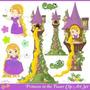 Kit Imprimible Enredados Rapunzel 5 Imagenes Clipart