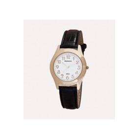Relógio Backer 1609142 Pulseira Couro Preto Fundo Branco