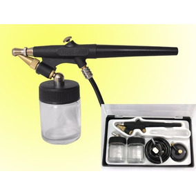Aerografo Profesional Kit Completo Acción Simple Aerografía