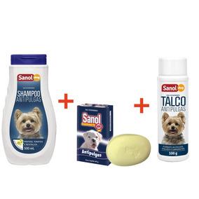 Shampoo Antipulga + Sabonete Antipulga + Talco Antipulga