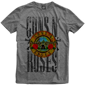 Guns N Roses Banda Rock Camiseta Mescla Cinza Personalizada