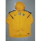 Campera Nike Rompe Viento Boca Juniors Con Capucha
