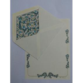 Conjunto Papel De Carta Florentino Importado Lote 153