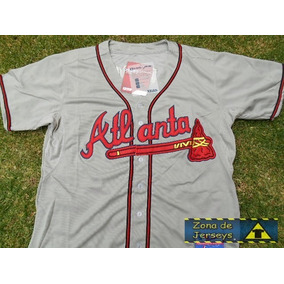 Jersey Béisbol Bravos De Atlanta Gris Greg Maddux 31