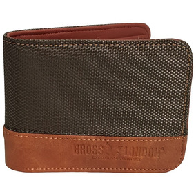 Billetera Bross London Mod Thames Cuero Pu + Canvas Original