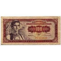Billete 100 Dinara Yugoslavia 1955